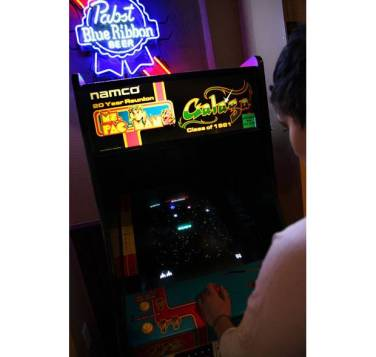 Galaga Arcade Game_in bar