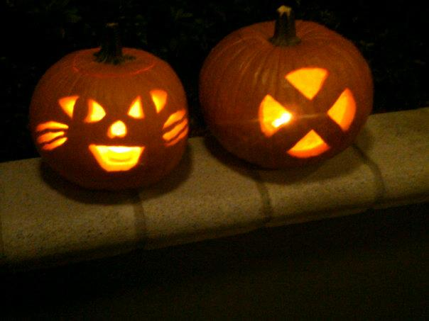 Pumpkin Carving_Cat_X-Men Logo_Halloween