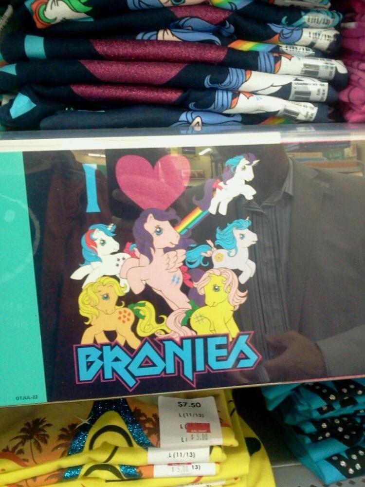 Walmart_i heart bronies t-shirt