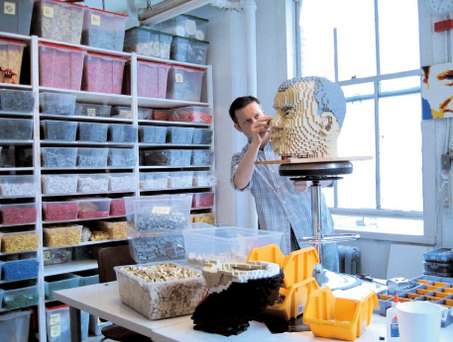 LEGO_Artist Sean Kenney in studio