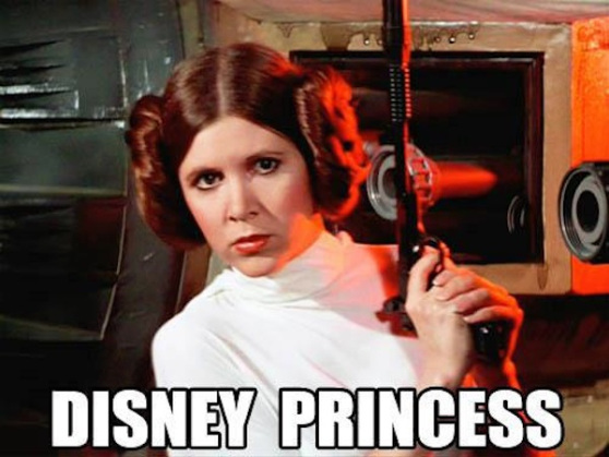 Disney Princess_Disney and Star Wars meme_Princess Leia