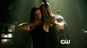Arrow_S1E8_Vendetta_The CW_Oliver teaching Helena to shoot