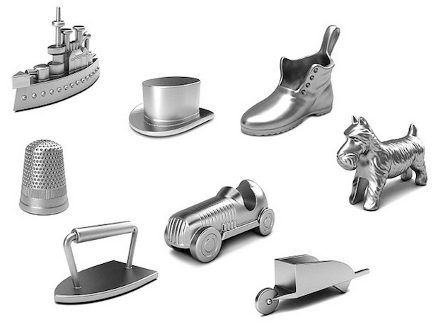 Original Monopoly Pieces_Hasbro Cutting a Piece