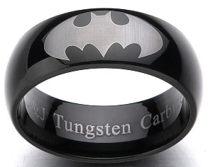 Batman wedding ring_tungsten_marrying a nerd