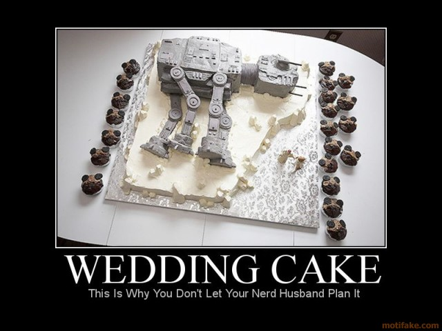 Star Wars Wedding Cake_Nerd Marriage Poster