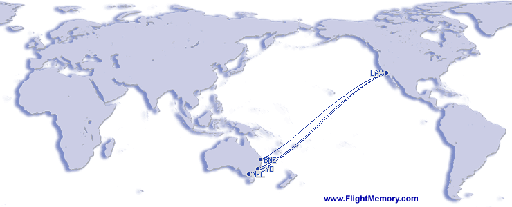 LA to Australia_Flight Pattern