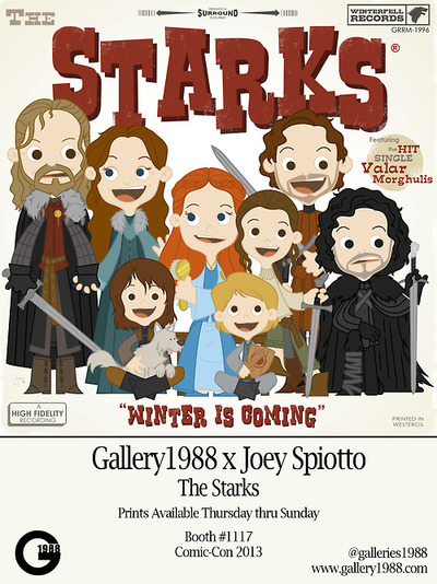 Game of Thrones_The Starks_Gallery 1988_Joey Spiotto